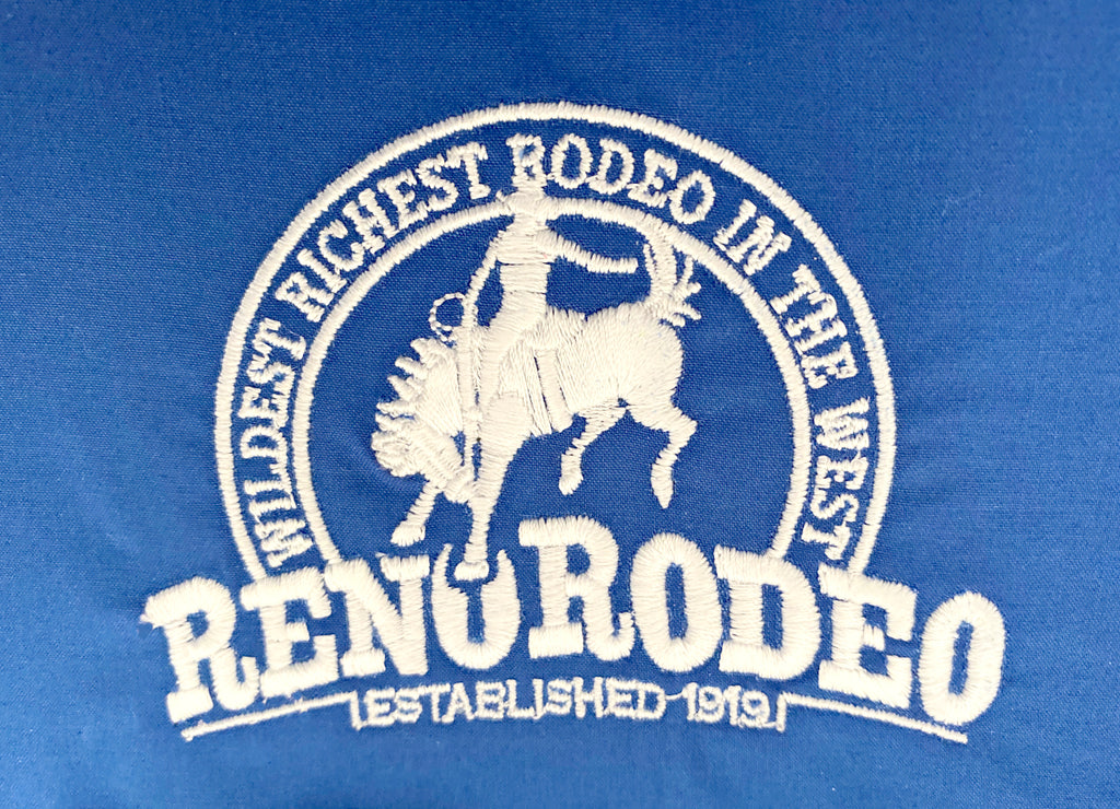"Wrangler Men's Blue GS Reno Rodeo Logo L/S Shirt ""National Patriot"""