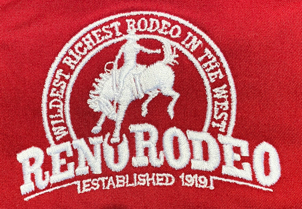 Wrangler Men's Deep-Red L/S Shirt Reno Rodeo Logo