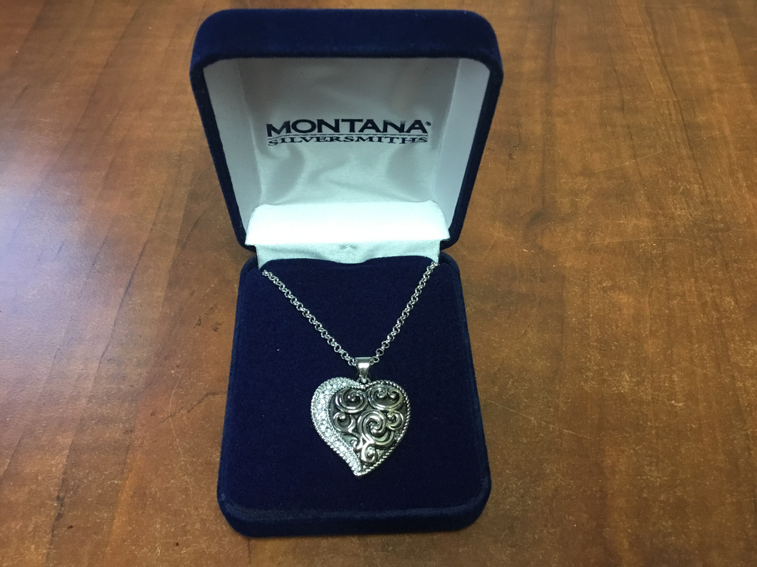 Montana Silversmith Every Heart has a Silver Lining Necklace