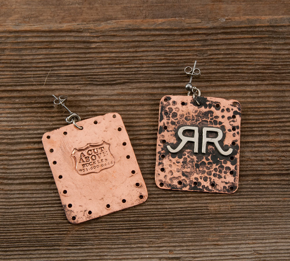 RR Hammered Copper Earring