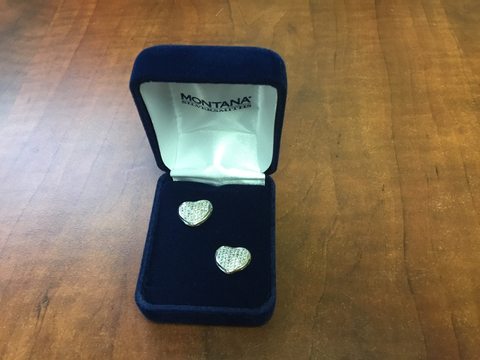 Montana Silversmith Simply Pave Heart Earrings