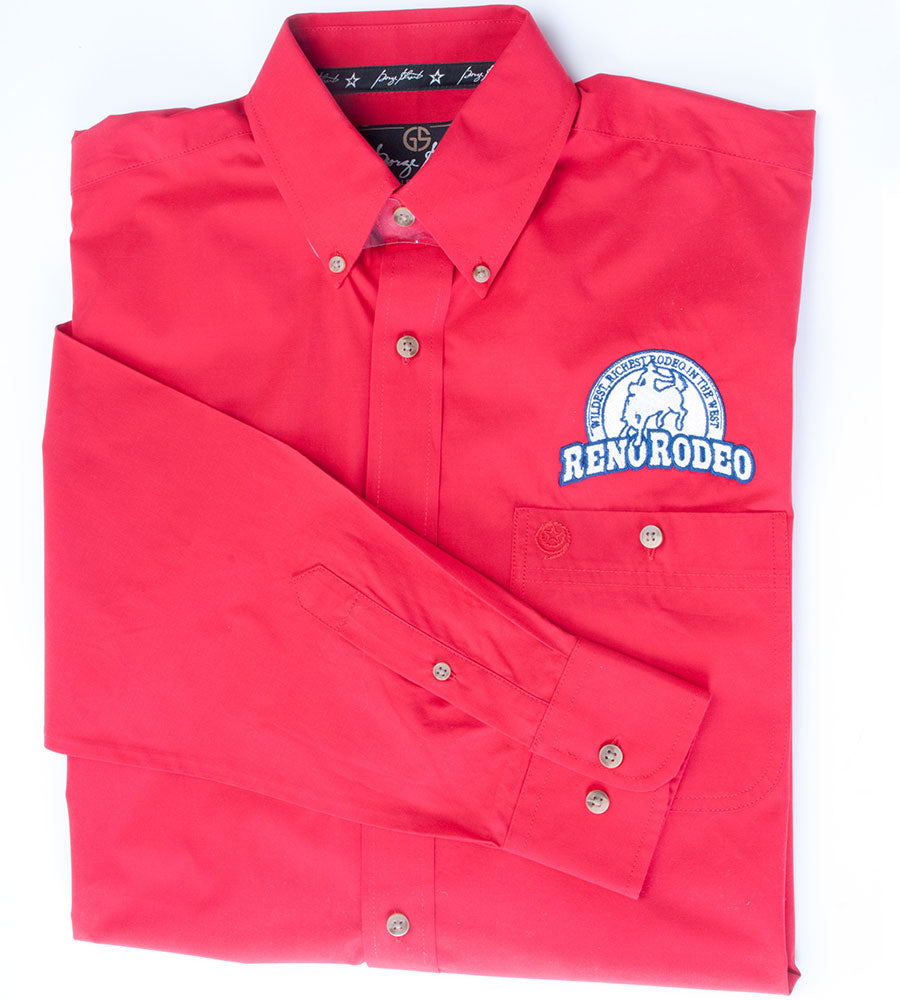 Mens Red Wrangler GS button up