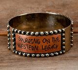 "Silver and Copper ""Spurring on the Western Legacy"" Bracelet"