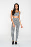 Seamless Slim Strap Bra Top in Static Gray