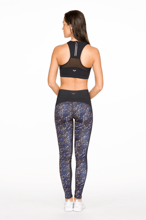 Stitch Print Blue Leggings