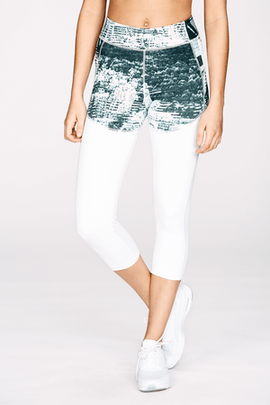 Skyline Print Cropped Legging