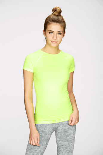 Seamless Tee in Lime