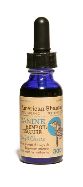 CANINE Concentrated Hemp Oil Tincture:  Beef & Cheese flavor