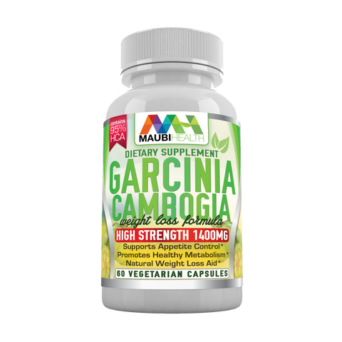 Premium 95% HCA Garcinia Cambogia Pills By Maubi Health - All Natural Weight Loss Supplement - Boost Your Energy - Burn Extra Fat - Suppress Your Appetite - 60 Veggie Capsules