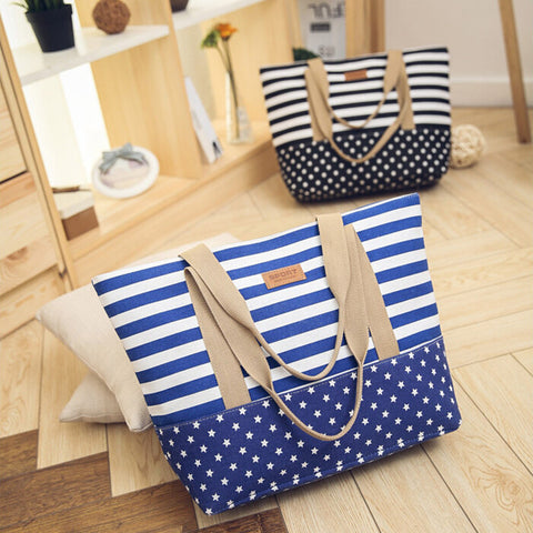 Casual Tote Women Canvas Casual Shoulder Shopping Bags