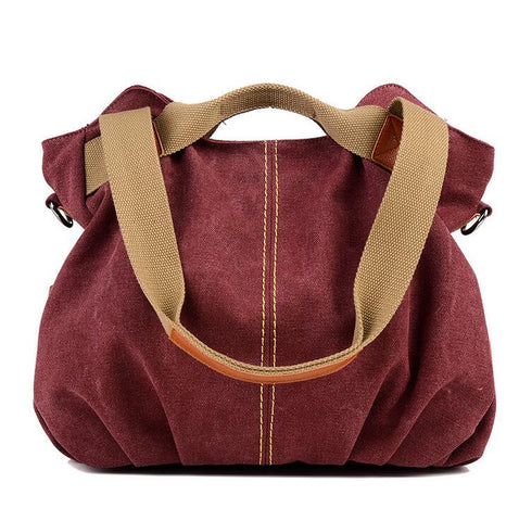 Canvas bucket Women Single Shoulder Bag