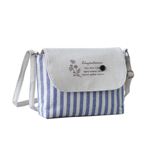 Floral Shoulder Canvas Small Crossbody Bag