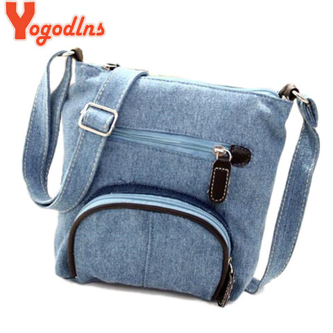 Canvas messenger denim Shoulder Bags