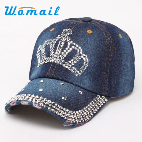 Sports Diamond Women Snapback Outdoor fashion Hip Hop Baseball Caps