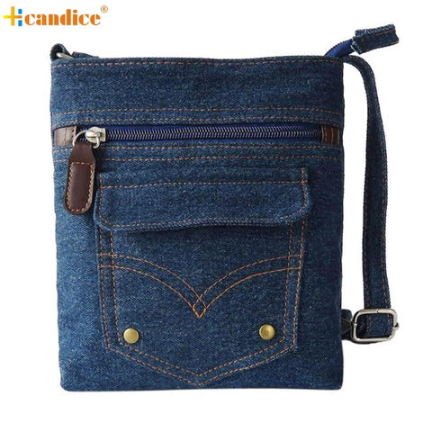 Denim Handbag Women Messenger Hobo Bag Lady Shoulder Bag Tote Purse
