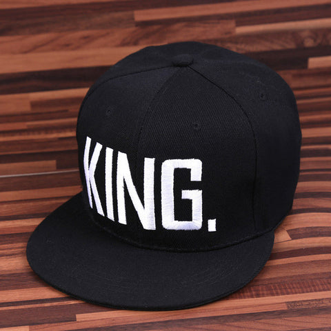 KING QUEEN Hip Hop Baseball Embroider Letter Adjustable Snapback Hats