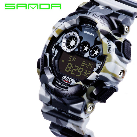 2017 New Style Sanda Fashion Casual Watch Men Military G Style Shock Waterproof Luxury Sports Digital Watch relogio masculino