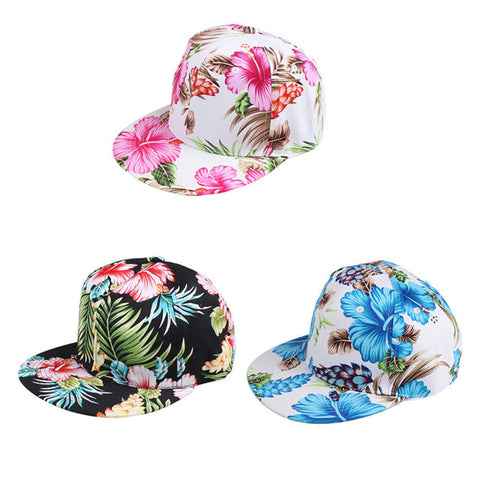 Unisex Flowers Canvas Cotton Embroidered Baseball Cap