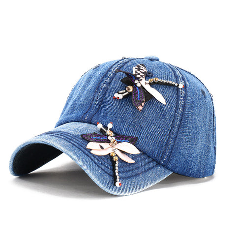 Embroidery Summer Snapback Hats Women fashion flower baseball cap