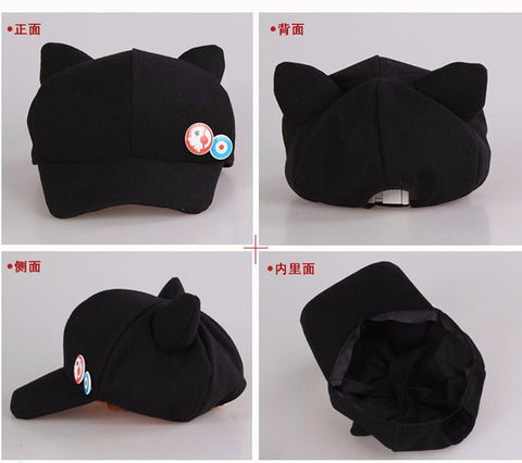 Anime Neon Cat Ear Polar Fleece Hat for woman