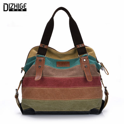 Canvas Striped Women Handbags/Tote  Shoulder Bag
