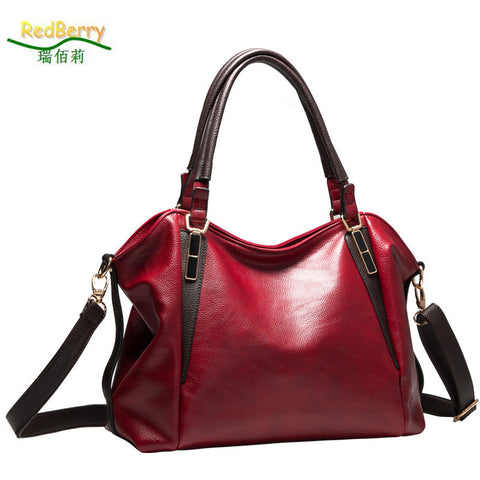 Genuine Leather  Casual Shoulder Crossbody Handbag