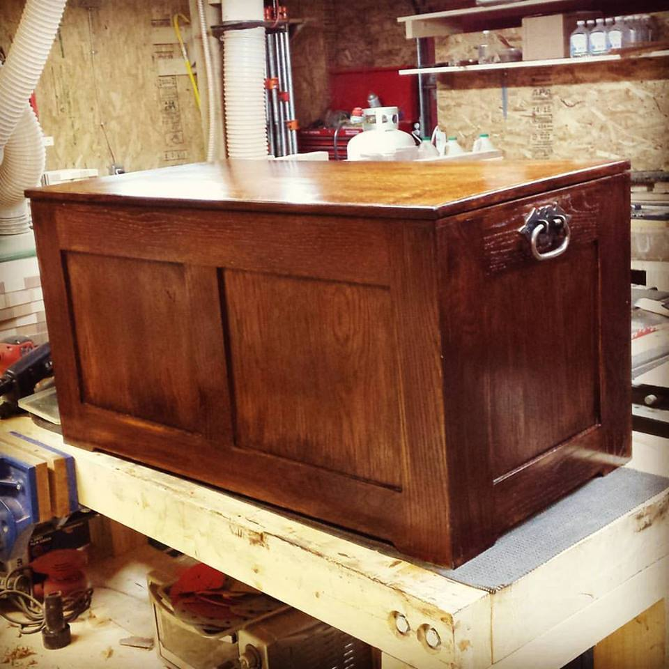 White Oak Blanket Chest