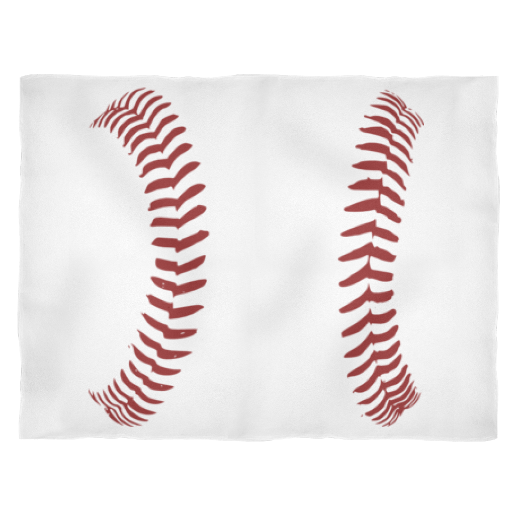 Baseball Laces Fleece Blanket – Ball Bat Glove