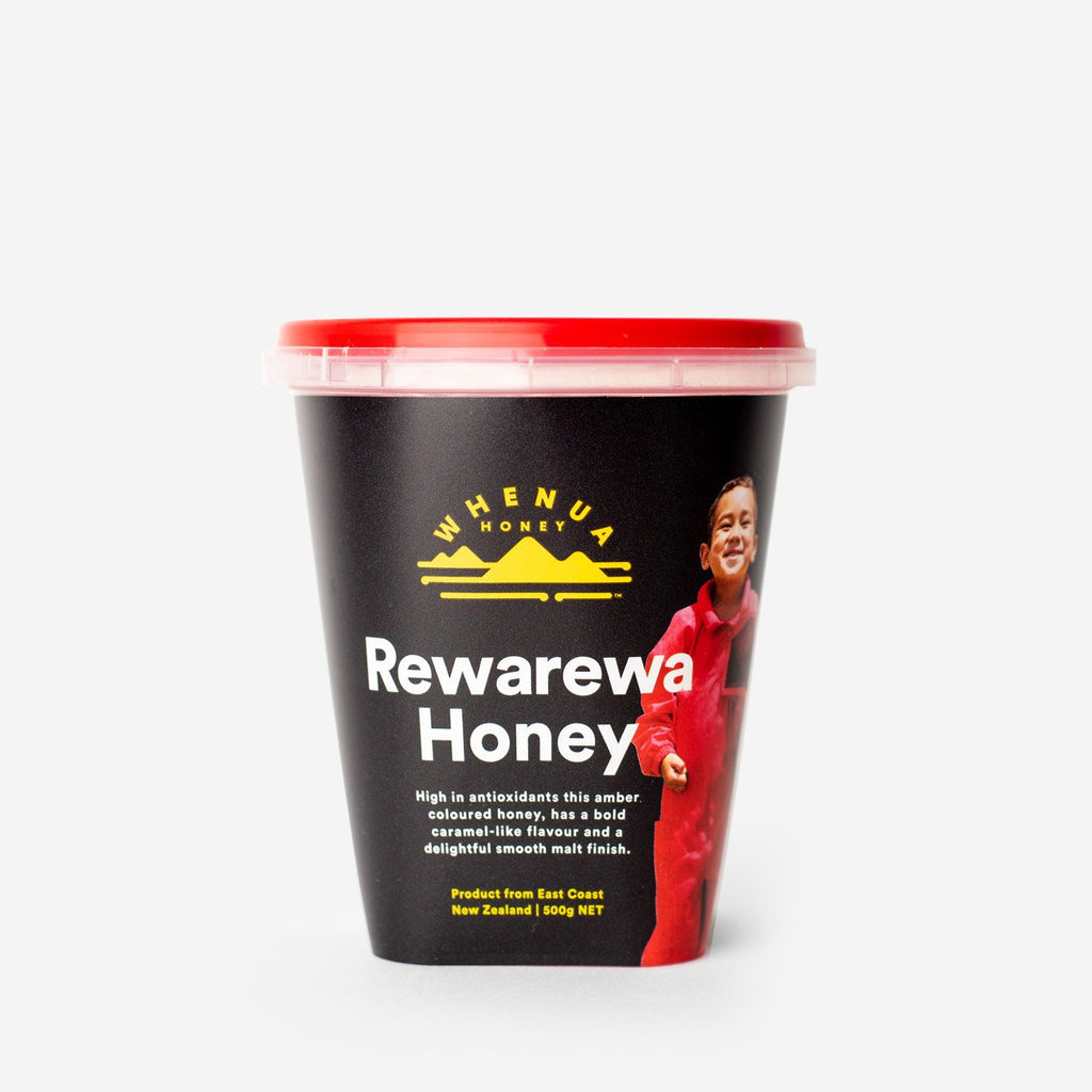 Shhh Uncle Mal doesn't want anyone to try the Rewarewa honey....