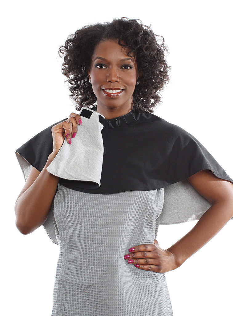 Wrapperoo T-Shirt Hair Towel and Protective Styling Cape for naturally curly hair