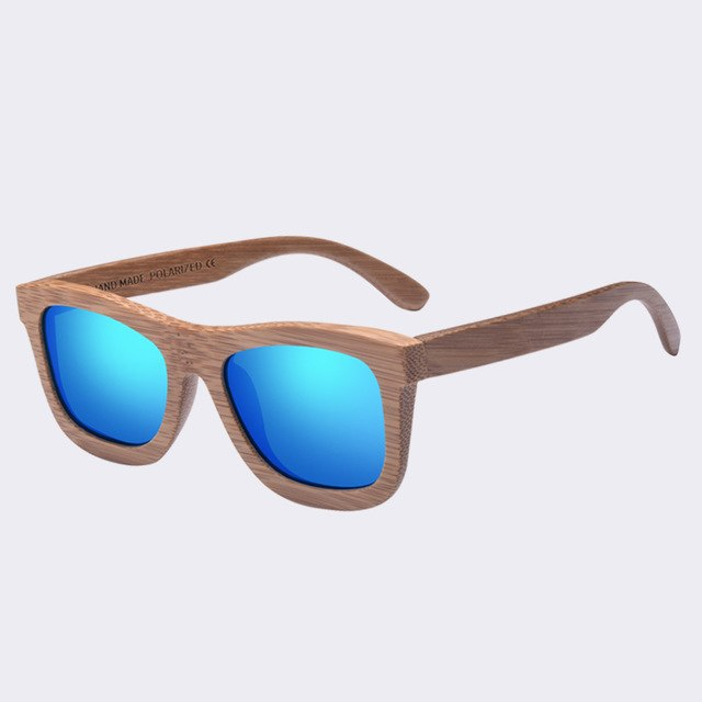 AOFLY BRAND DESIGN New Polarized Bamboo Sunglasses Men Wooden Glasses Women  Handmade Wood Mirror Coating Oculos ee03d6c1c5