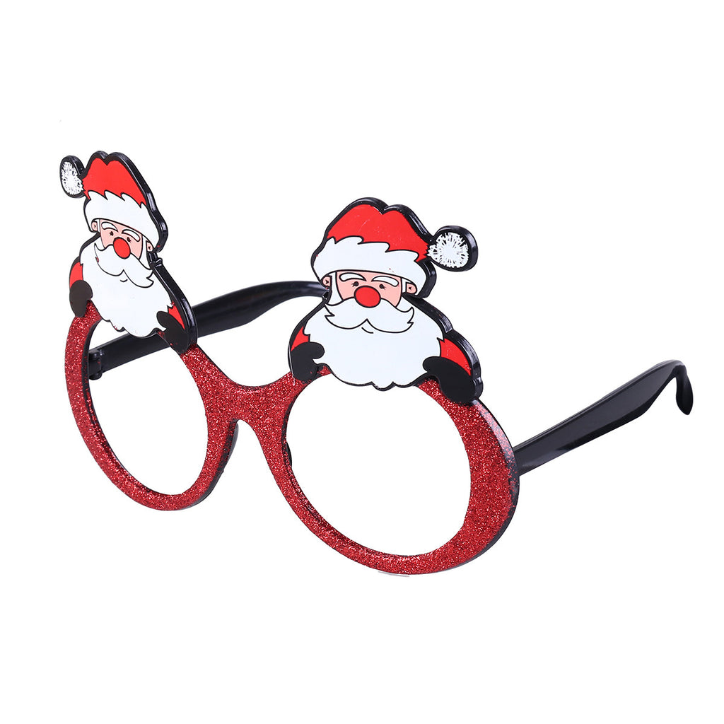 1f0489bac69e6 Fancy Dress Christmas Party Sunglasses Glittering Santa Claus Funny Glasses  Xmas Decoration Novelty Costume Holiday Sunglasses