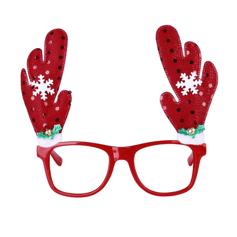 83869f5a967f3 Novelty Glittering Christmas Reindeer Antler Snowfalke Sunglasses Party  Party Xmas Holiday Costumes Fancy Dress Accessories