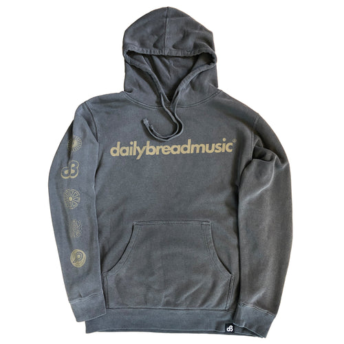 Daily Bread Team Hoodie Premium Black Fade