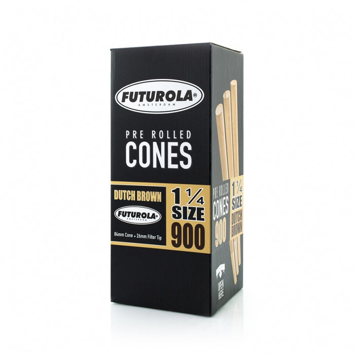 Futurola 1¼ Size - 84/26 [900 Dutch Brown™ Cones]-TrimBud.com