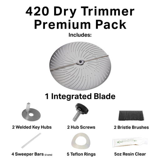 GreenBroz 420 Dry Trimmer Premium Parts Package-TrimBud.com