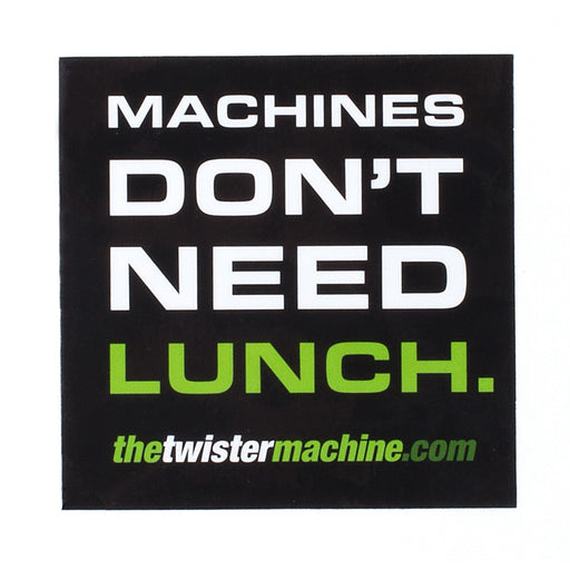 Machines Don't Need Lunch Sticker-TrimBud.com