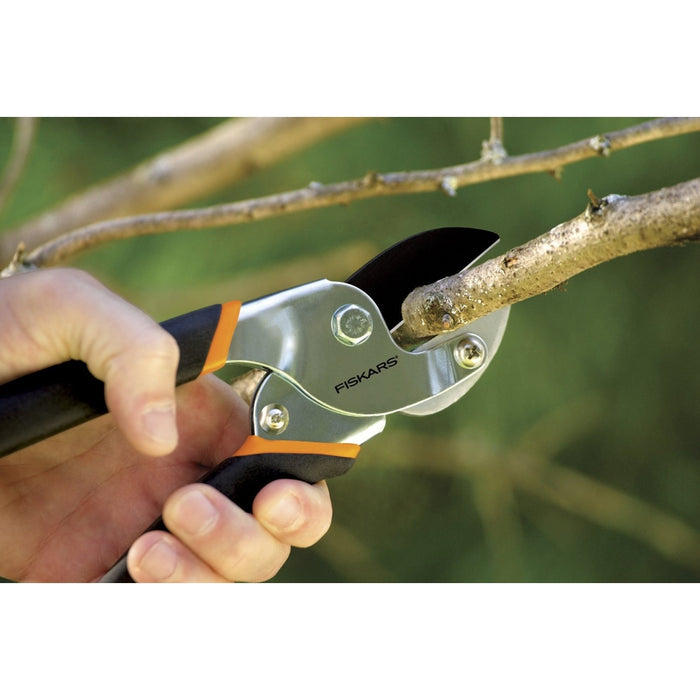 "Fiskars 5/8"" Power-Lever Anvil Pruner w/ Non-Stik Blade-TrimBud.com"