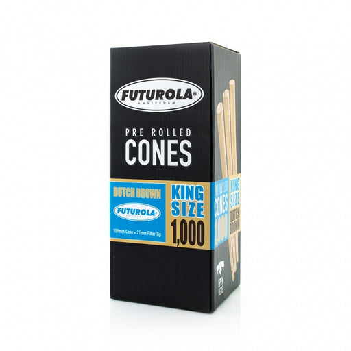 Futurola King Size - 109/21 [1000 Dutch Brown™ Cones]-TrimBud.com
