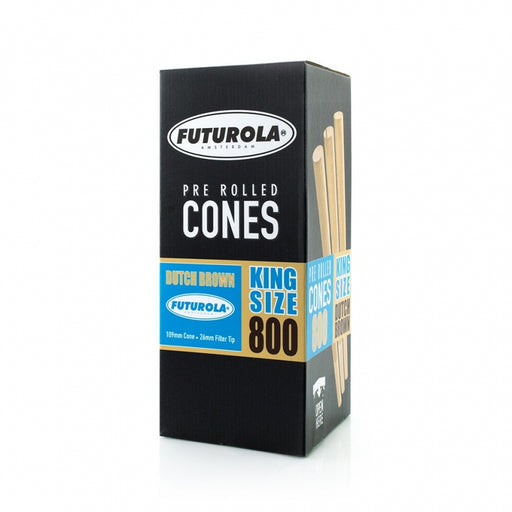 Futurola King Size - 109/26 [800 Dutch Brown™ Cones]-TrimBud.com