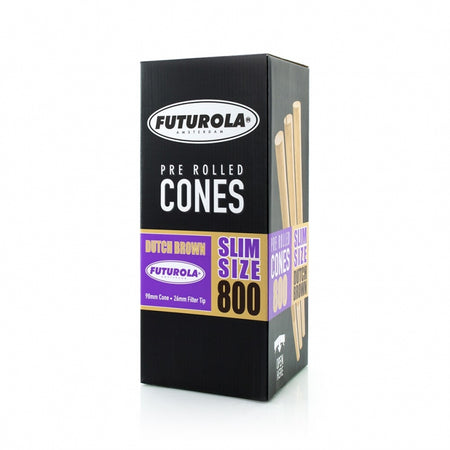 Futurola Slim Size - 98/26 [800 Dutch Brown™ Cones]-TrimBud.com