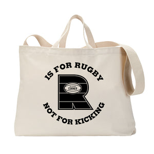 R Is For Rugby Tote Bag