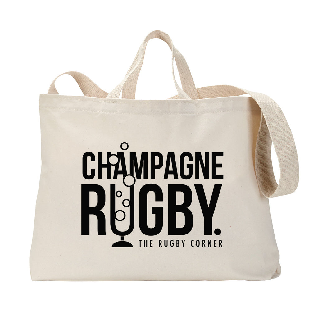 Champagne Rugby Tote Bag