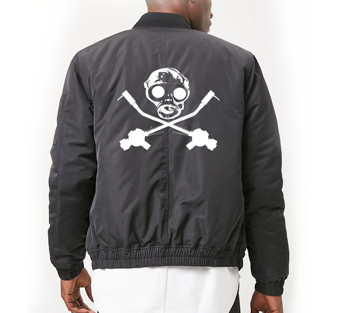 Gas Mask Bomber Jacket