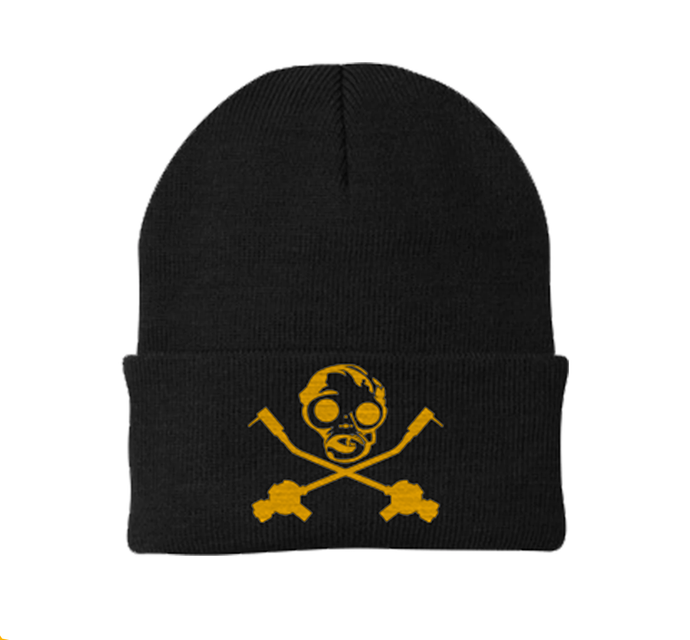 New Black and Gold SID Gas Mask Beanie