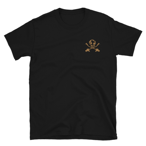 Embroidered Old Gold Gas Mask Short-Sleeve Unisex T-Shirt