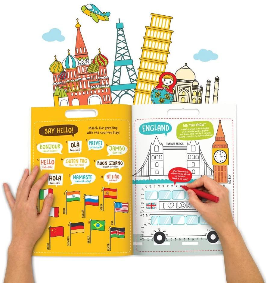 Around the World Activity Colouring Book - Super Toy
