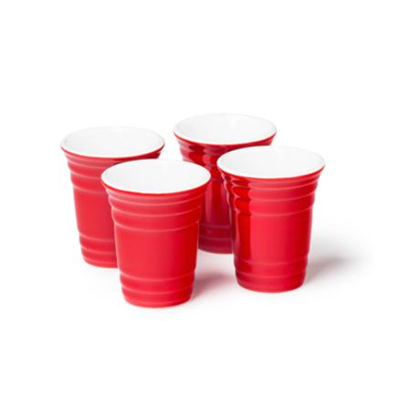 BigMouth Red Cup Shot Glass Set - 4pk