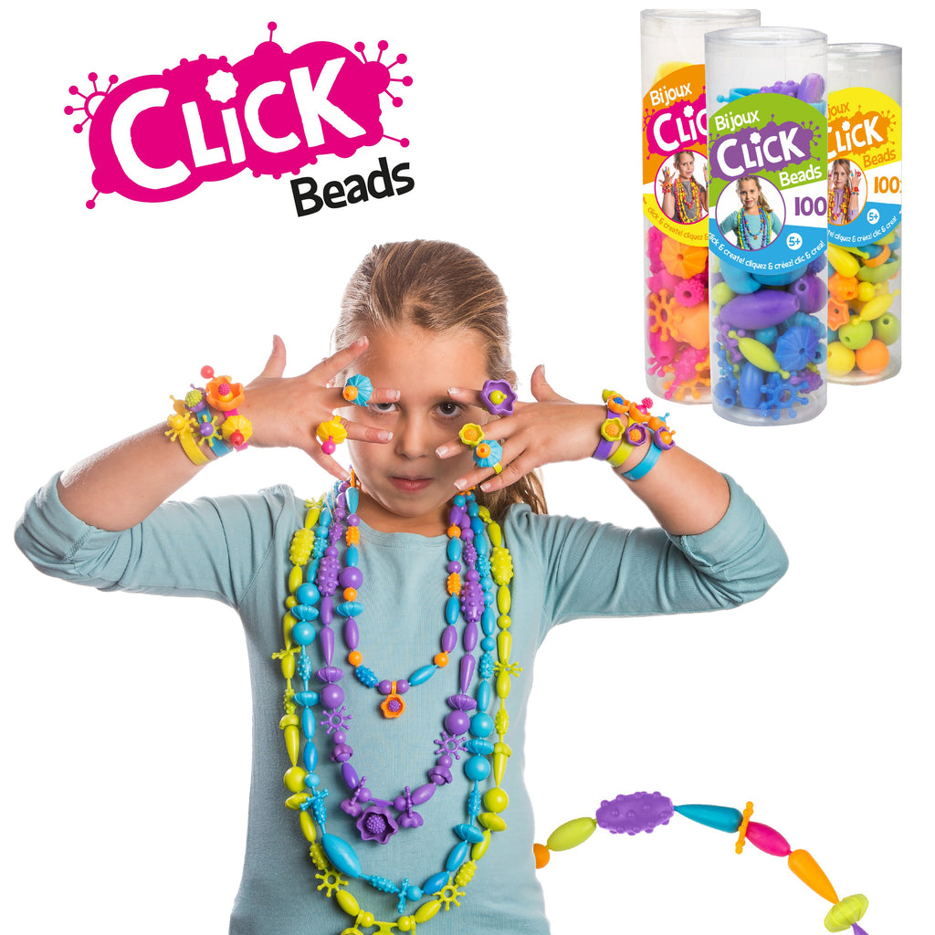 Click Beads - Purple, Blue, Turquoise & Green - Super Toy