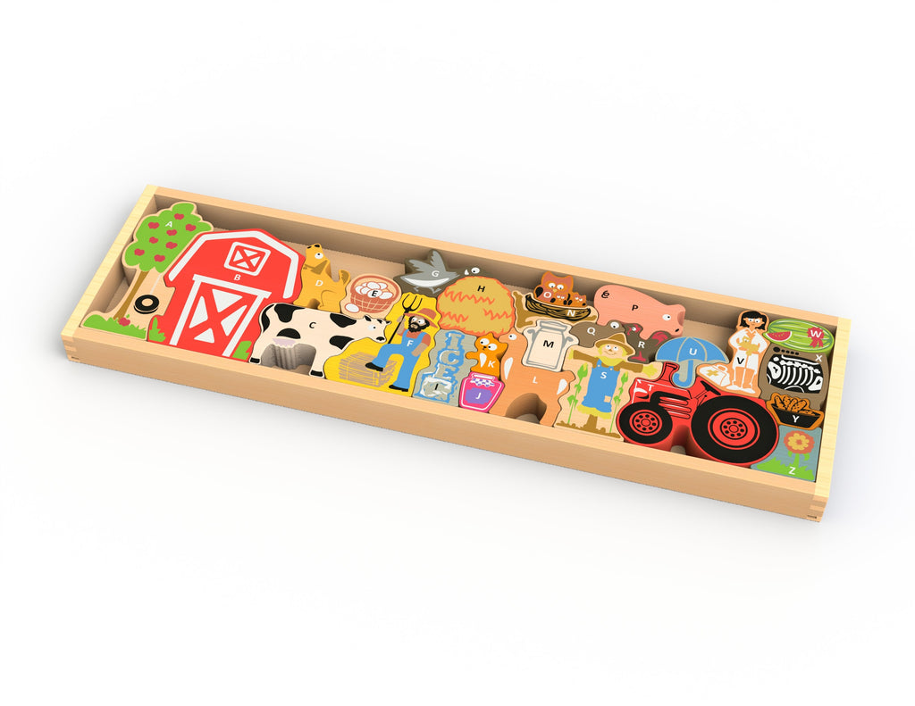 The Farm A to Z Puzzle - Super Toy